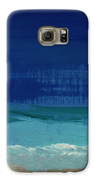 Calm Waters- Abstract Landscape Painting Galaxy S6 Case by Linda Woods