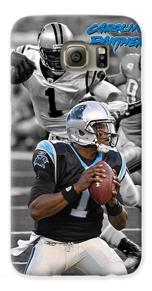 Cam Newton Panthers Galaxy S6 Case by Joe Hamilton