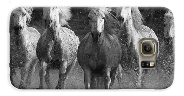 Horse Galaxy S6 Case - Camargue Horses Running by Carol Walker