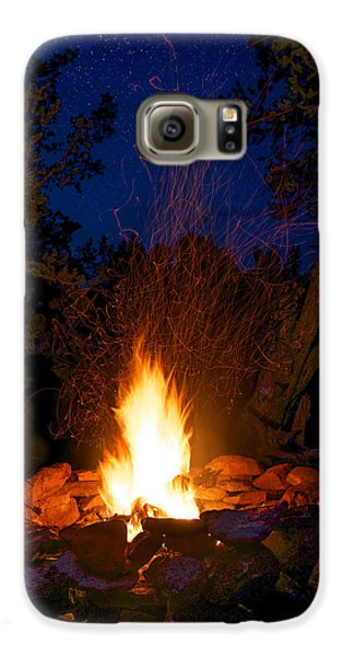 Campfire Under The Stars Galaxy S6 Case