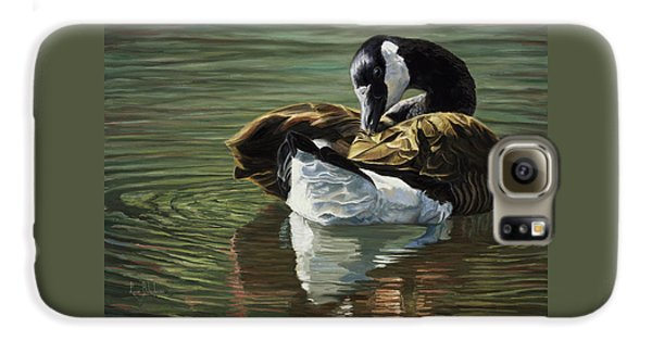 Goose Galaxy S6 Case - Canadian Goose by Lucie Bilodeau