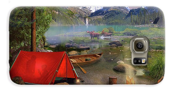 Galaxy S6 Case featuring the drawing Canadian Wilderness Trip by David M ( Maclean )