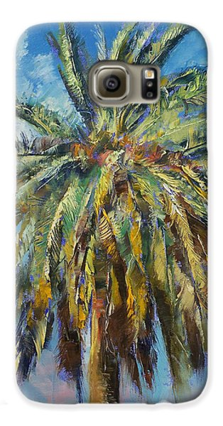 Canary Island Date Palm Galaxy S6 Case by Michael Creese