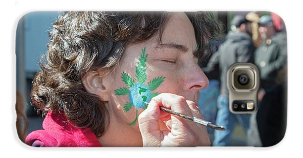 Cannabis Face Painting Galaxy S6 Case