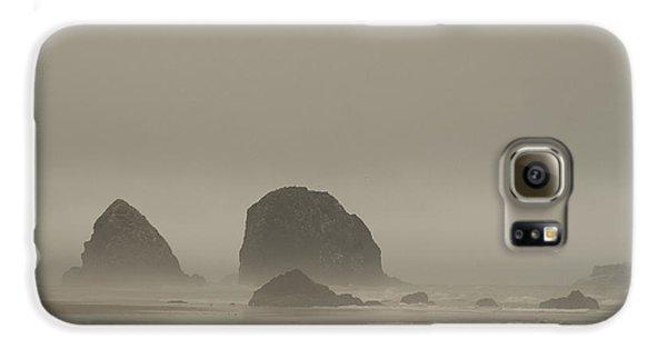 Galaxy S6 Case featuring the photograph Cannon Beach In A Fog Oregon by Yulia Kazansky