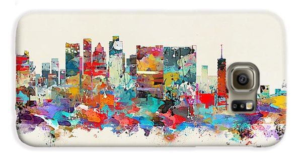 Town Galaxy S6 Case - Cape Town South Africa Skyline by Bri Buckley