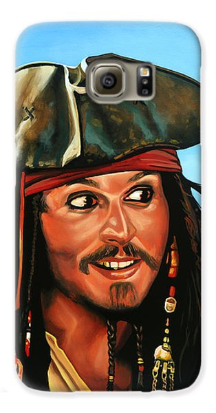 Captain Jack Sparrow Painting Galaxy S6 Case