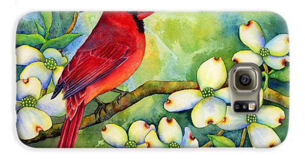 Cardinal On Dogwood Galaxy S6 Case by Hailey E Herrera