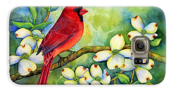 Cardinal On Dogwood Galaxy S6 Case