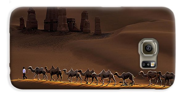 Camel Galaxy S6 Case - Castle And Camels by Mei Xu