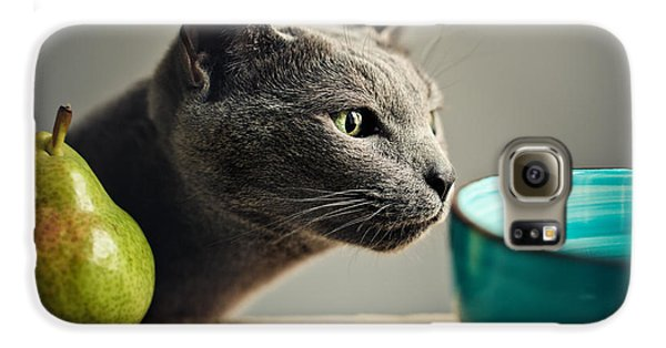 Cat And Pears Galaxy S6 Case by Nailia Schwarz