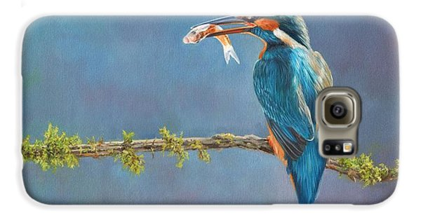 Kingfisher Galaxy S6 Case - Catch Of The Day by David Stribbling