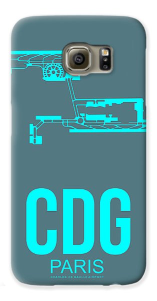 Cdg Paris Airport Poster 1 Galaxy S6 Case by Naxart Studio