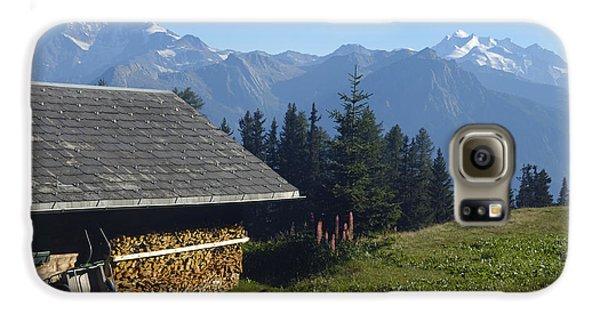 Chalet In The Swiss Alps Bettmeralp Switzerland Galaxy S6 Case