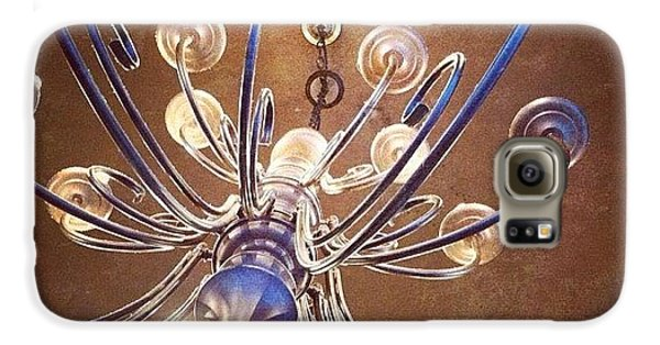 Decorative Galaxy S6 Case - Chandelier In Blue by Suzanne Goodwin