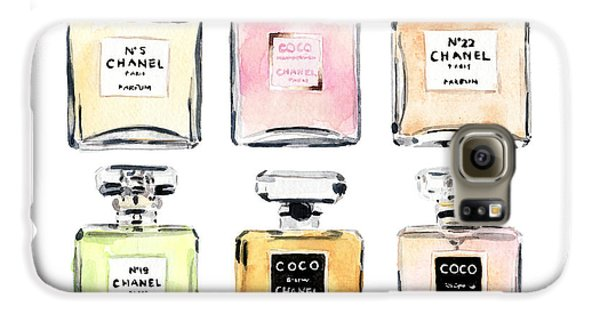 Chanel Perfumes Galaxy S6 Case by Laura Row Studio