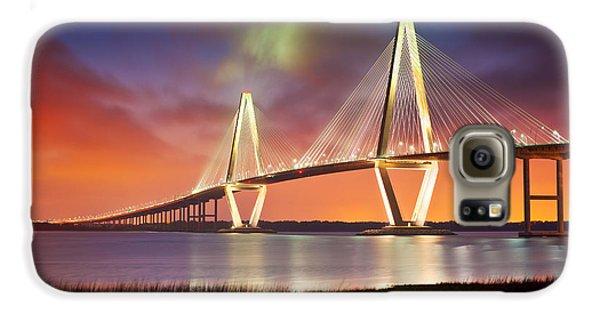 American Landmarks Galaxy S6 Case - Charleston Sc - Arthur Ravenel Jr. Bridge Cooper River by Dave Allen