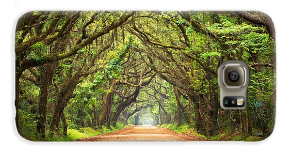 Inspirational Galaxy S6 Case - Charleston Sc Edisto Island - Botany Bay Road by Dave Allen