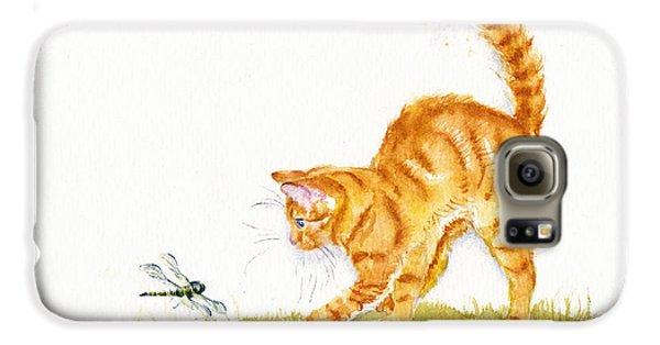 Cat Galaxy S6 Case - Chasing The Dragon by Debra Hall