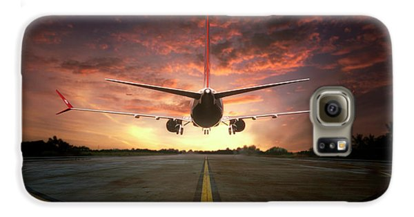 Airplanes Galaxy S6 Case - Chasing The Sunset by Ganjar Rahayu