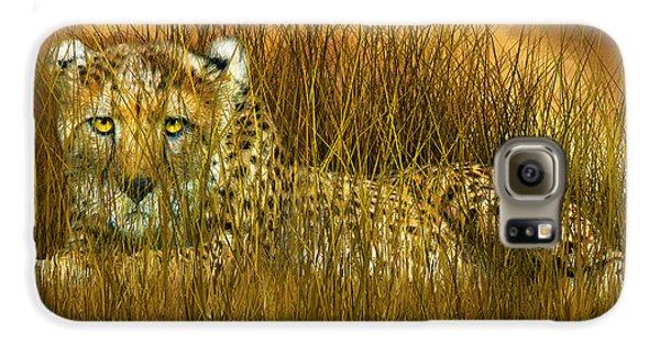 Cheetah - In The Wild Grass Galaxy S6 Case by Carol Cavalaris