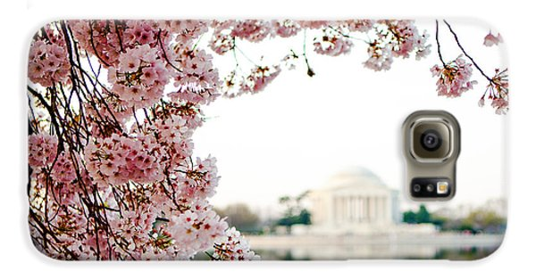 Cherry Blossoms Framing The Jefferson Memorial Galaxy S6 Case