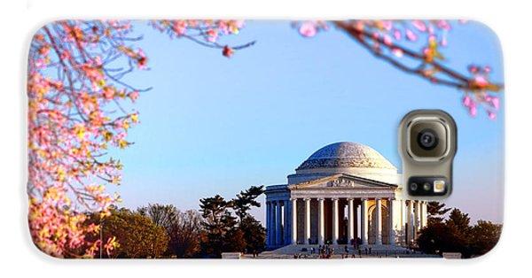 Jefferson Memorial Galaxy S6 Case - Cherry Jefferson by Olivier Le Queinec