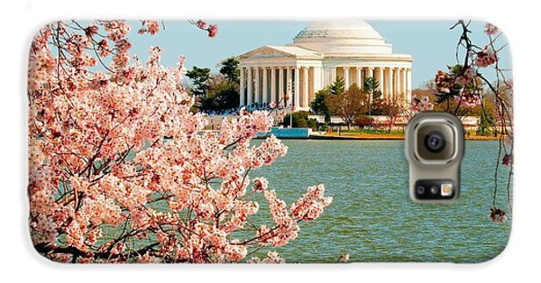 Jefferson Memorial Galaxy S6 Case - Cherry Trees At The Jefferson by Nick Zelinsky