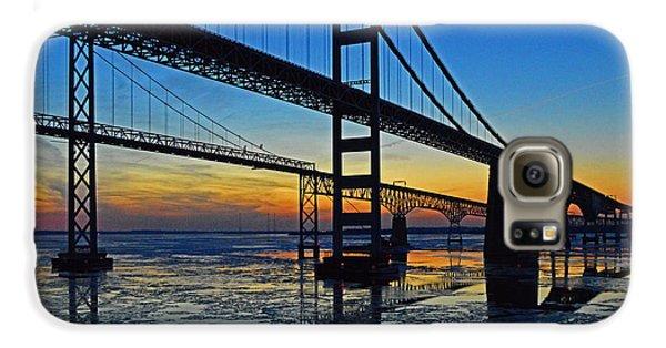 Chesapeake Bay Bridge Reflections Galaxy S6 Case