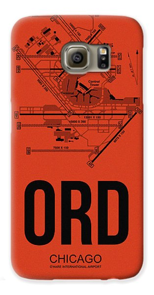 Chicago Airport Poster 1 Galaxy S6 Case by Naxart Studio
