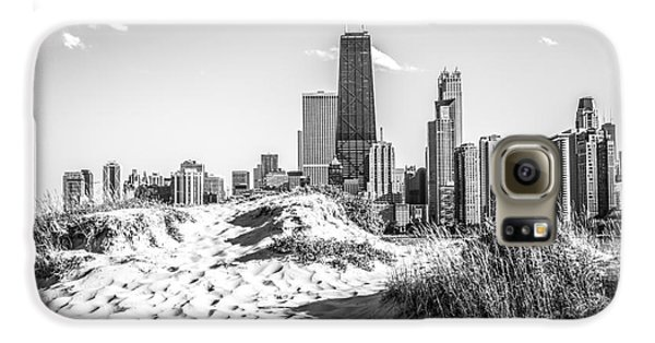 Chicago Beach And Skyline Black And White Photo Galaxy S6 Case