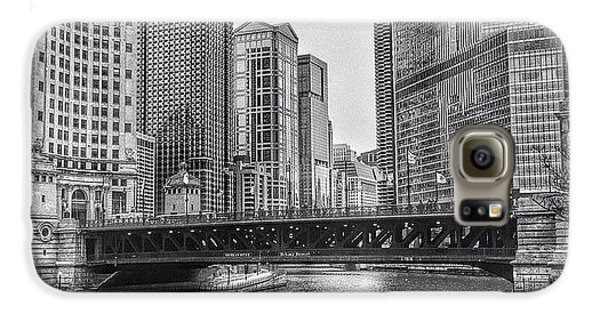 City Galaxy S6 Case - #chicago #blackandwhite #urban by Paul Velgos