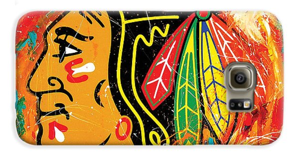 Hockey Galaxy S6 Case - Chicago Blackhawks Logo by Elliott From