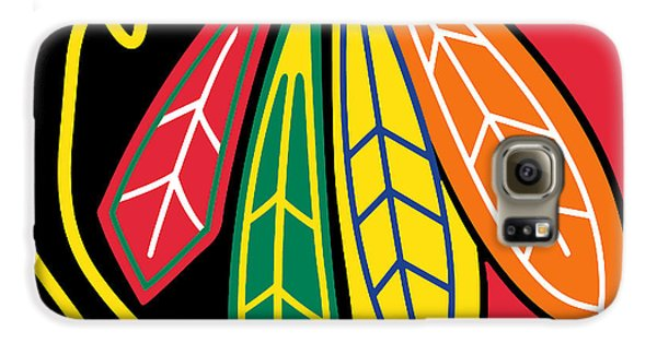 Hockey Galaxy S6 Case - Chicago Blackhawks by Tony Rubino