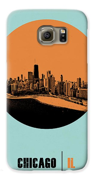 Sears Tower Galaxy S6 Case - Chicago Circle Poster 2 by Naxart Studio