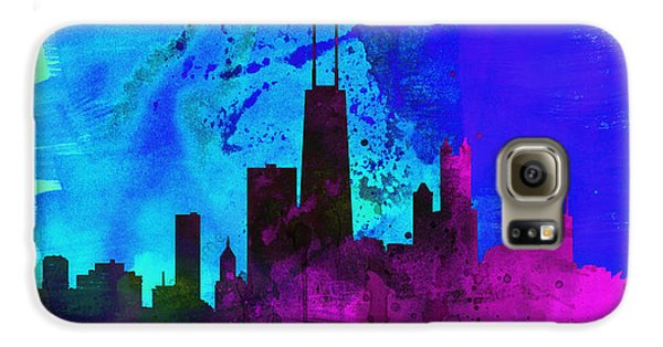 Chicago City Skyline Galaxy S6 Case by Naxart Studio