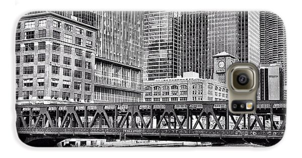 Architecture Galaxy S6 Case - Wells Street Bridge Chicago Hdr Photo by Paul Velgos