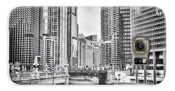 City Galaxy S6 Case - #chicago #cityscape #chicagoriver by Paul Velgos