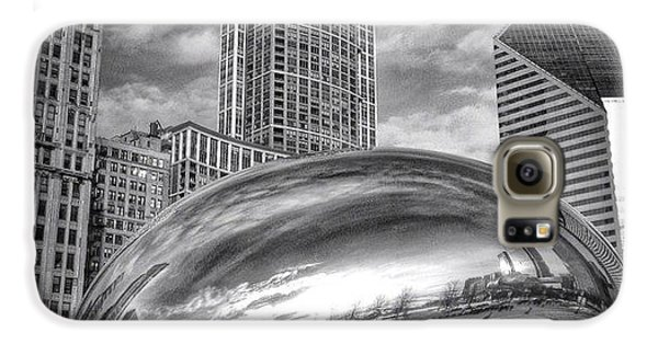Architecture Galaxy S6 Case - Chicago Bean Cloud Gate Hdr Picture by Paul Velgos