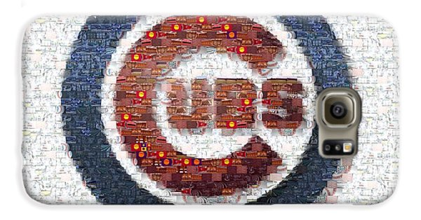 Chicago Cubs Mosaic Galaxy S6 Case by David Bearden