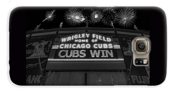 Chicago Cubs Win Fireworks Night B W Galaxy S6 Case