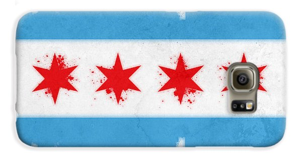 Chicago Flag Galaxy S6 Case by Mike Maher