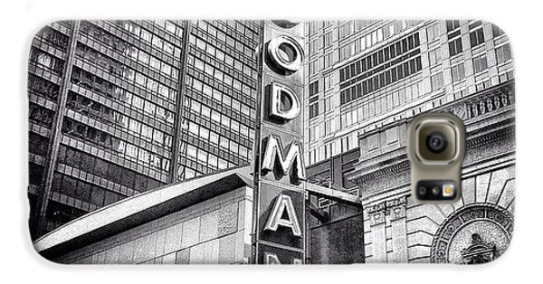 Chicago Goodman Theatre Sign Photo Galaxy S6 Case