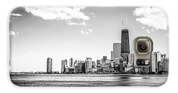 Chicago Lakefront Skyline Black And White Picture Galaxy S6 Case