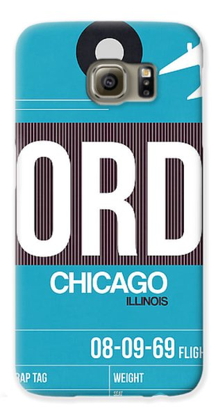 Chicago Galaxy S6 Case - Chicago Luggage Poster 1 by Naxart Studio