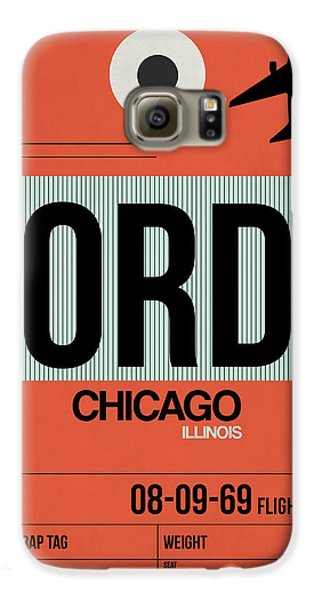 Chicago Galaxy S6 Case - Chicago Luggage Poster 2 by Naxart Studio