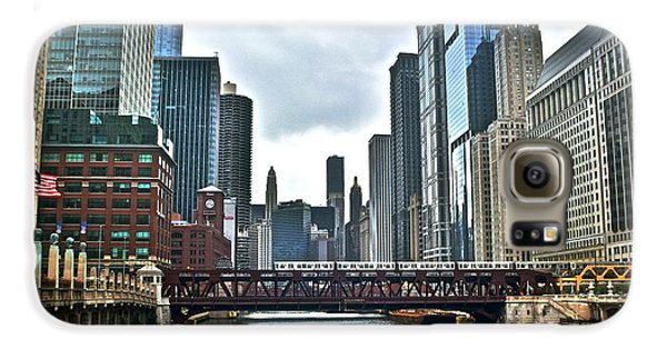 Chicago River And City Galaxy S6 Case
