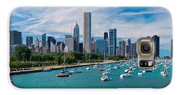 City Scenes Galaxy S6 Case - Chicago Skyline Daytime Panoramic by Adam Romanowicz