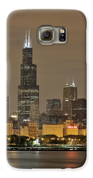 Chicago Skyline At Night Galaxy S6 Case by Sebastian Musial