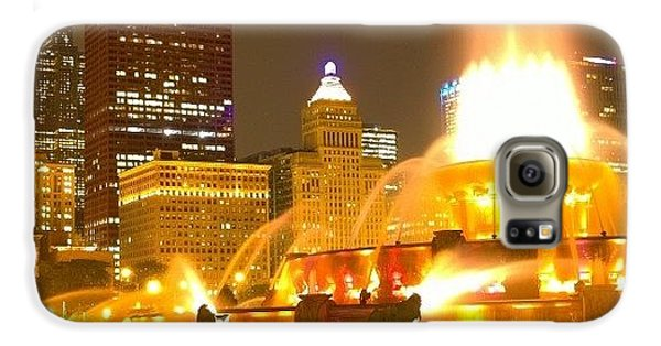 City Galaxy S6 Case - Chicago Skyline At Night With by Paul Velgos